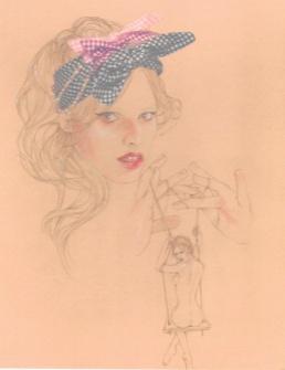 Amy-bandeau noué vicht:Lily-2 headband perle et noeud-Maison Michel-PE 2010-13