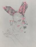 Heidi-oreilles de lapin en patchwork de dentelle-Maison Michel-PE 2010
